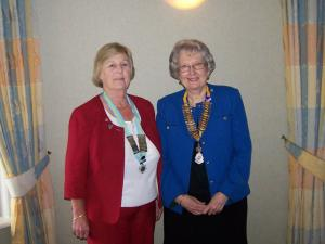 President Christine meets Inner Wheel District President