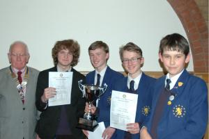Triumphant Team in Rotary's Inter-Schools Quiz Competition