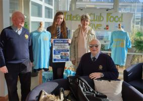 Brixham Rotary Club's contribution to Brixham Interact's Foodbank Collection at the Brixham college on 16th march 2020
