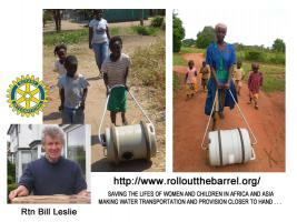Rtn Bill Leslie will talk about the Roll Out The Barrel project