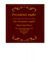Presidents night at Ryde Castle