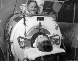 using an iron lung