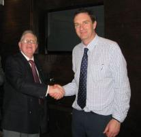James Burns with Senior Vice President Richard Lloyd