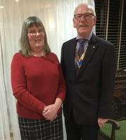 Club Meeting: Monday 11th February Induction Of Jean & Bob Shrubb