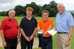 Young Golfers emulate the professionals!