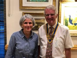 Jo Stuttaford and President Peter