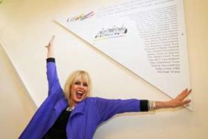 March 8th Joanna Lumley unveils plaque at The Grange