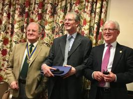 John Banks receives coveted Rotary Paul Harris Fellowship