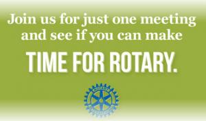 Why Not Become a Rotarian Yourself ?