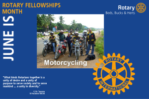 June is Rotary Fellowships Month