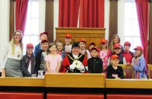 The Mayor of Llandudno meets the children from Chernobyl