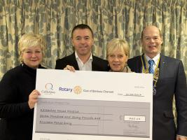 Castle Quay and Rotary donate to Katharine House Hospice