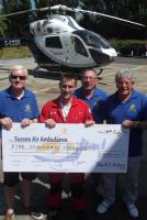KSS Air Ambulance Cheque Presentation