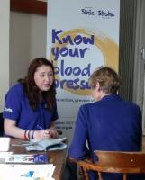 Know Your Blood Pressure Day in Street, Somerset