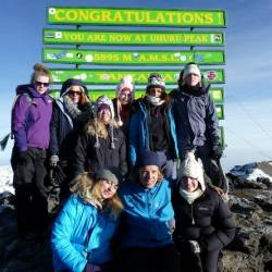Team UWE 2012 at Uhuru Peak 28th June 2012