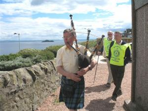 Piping the Marches at Burntisland