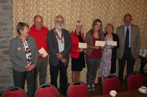Cheque presentation at the Knighton Hotel August 2014