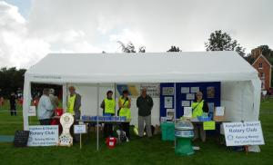 Knighton Show Rotary awareness stall
