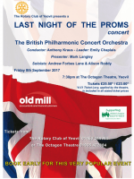 Last Night of the Proms 8th September, Octagon Theatre, Yeovil