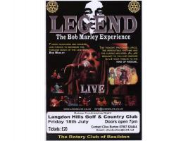 Legend - Bob Marley at Basildon Rotary Club