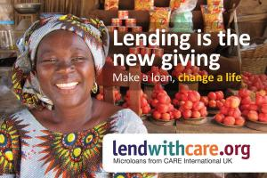 """Lending is the new giving Make a loan, change a life"""