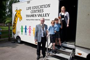 The Mobile Life Education Centre in Thame