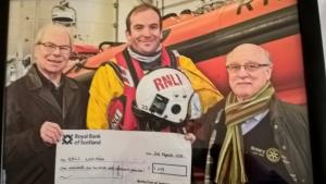Club helps with launch of Loch Ness Lifeboat