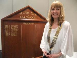First Lady President for Kingswood Rotary
