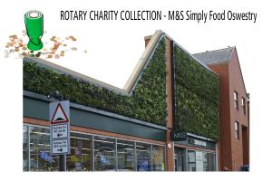 Rotary Charity Collection at M&S Simply Food, Oswestry