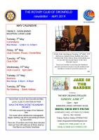 RC Dronfield Newsletters