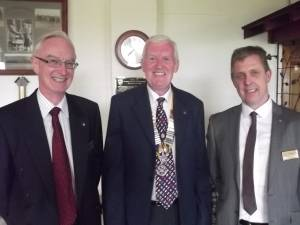 Dave and Vernon entertain Bexhill Rotary
