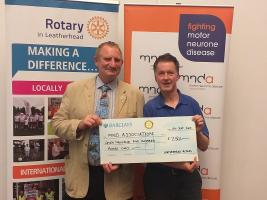 Local Rotary Club donates £7,500 to MND Association!