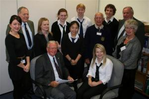 Rotary interviews WHA pupils