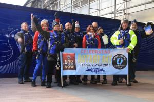 Walking the Dome for End Polio Now campaign - February 2015