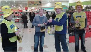 Collection on behalf of the local Marie Curie Hospice