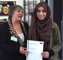 Princes Risborough School Interactor becomes the first recipient of an ILM endorsed certificate in Rotary Youth Leadership and Management