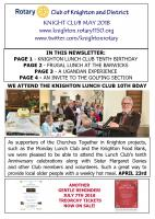 Knight Club May 2018