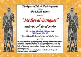 The Medieval Banquet was another great night out - on Friday 20th October!