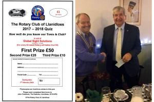 Mike Griffiths Raises Funds for Global Sight Solutions with Llanidloes Rotary Club