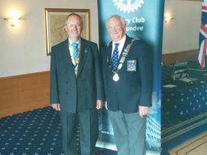 Rotary Club of Dundee president David Laing and Mike Halley.
