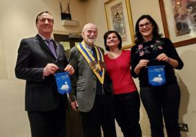 A welcome visit from International Rotarians