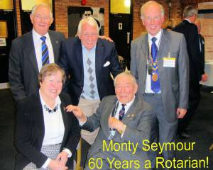 Monty's 60 Years of Rotary Service!