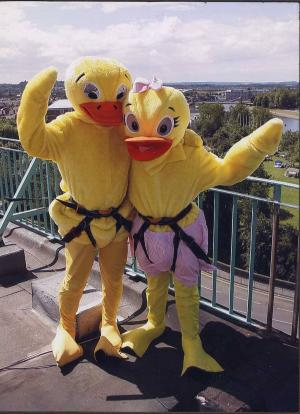 Mr & Mrs Duck Go Abseiling