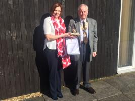 Melanie Parker received Community Service Award from Dunstable Rotary Club