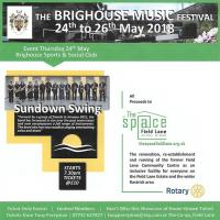 Sundown Swing at the Brighouse Music Festival