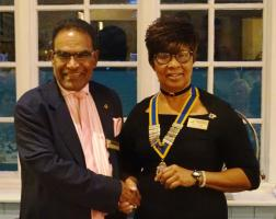 New Rotary Year - President Mutel Kerr Installed