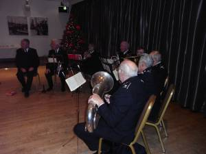 Salvation Army Band played Christmas Carols