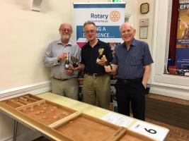 'The Navy Larks', winners of a special fundraising shuffleboard evening organised by Leatherhead Rotary Club at the Leatherhead Institute on Friday 12th October 2018