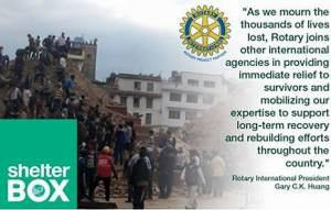 NEPAL EARTHQUAKE - Rotary in Action