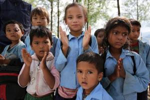 Re-building a school in Nepal